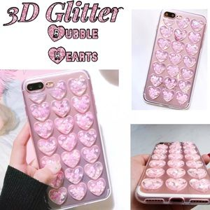 Accessories - iPhone 6-X 3D Glitter Heart Soft Case